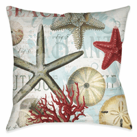 Beach Starfish 18 x 18 Outdoor Pillow