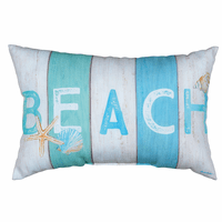 Beach Stripes Indoor/Outdoor Pillow - OVERSTOCK