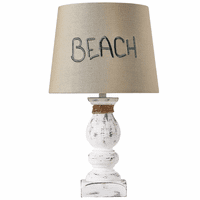 Beach Time White Accent Lamp