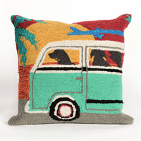 Beach Trip Sunset Indoor/Outdoor Pillow