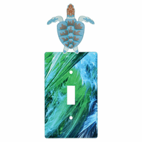 Beach Turtle Metal Switch Covers