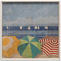 Beach Umbrellas Kinetic Wall Art