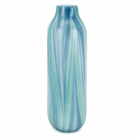Beach Zigzag Large Glass Vase