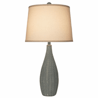 Beaded Vase Table Lamp with Ivory Shade
