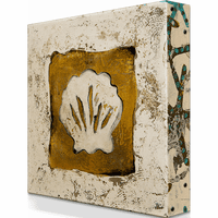 Beige Shell Aluminum Wall Art