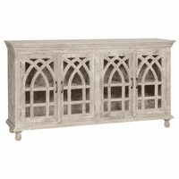Bengal Manor Light Mango Wood Cathedral Sideboard