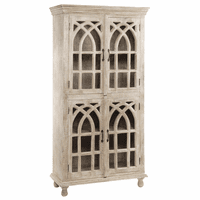 Bengal Manor Light Mango Wood Cathedral Tall Cabinet