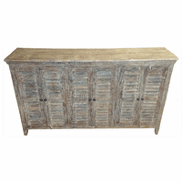Bengal Manor Mango Wood Gray 6 Door Sideboard