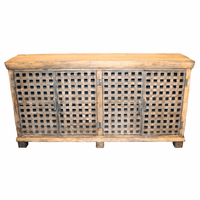 Bengal Manor Metal and Mango Wood Sideboard