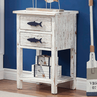 Bermuda Fish Two Drawer Accent Table