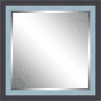 Beveled Blue and Sky Blue Framed Mirror