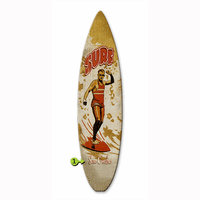 Big Daddy Surfboard Wood Personalized Sign - 12 x 44