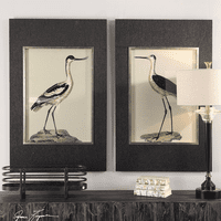 Birds on the Shore Framed Prints - Set of 2