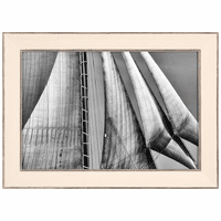 Black and White Sails Framed Print