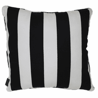 Black and White Stripes Indoor/Outdoor Pillow - 18 x 18