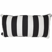 Black and White Stripes Indoor/Outdoor Pillow - 24 x 12