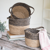 Black Border Baskets - Set of 3