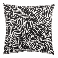 Black Leaves Indoor/Outdoor Pillows