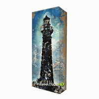 Black Lighthouse Personalized Aluminum Wall Art
