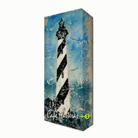 Black Stripe Lighthouse Personalized Aluminum Wall Art