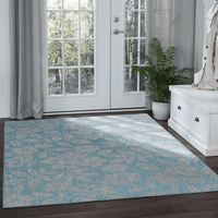 Blanes Bay Aqua Indoor/Outdoor Rug Collection