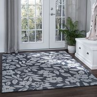 Blanes Bay Charcoal Indoor/Outdoor Rug Collection