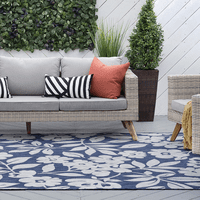 Blanes Bay Navy Indoor/Outdoor Rug Collection