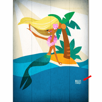 Blonde Island Beauty Personalized Sign