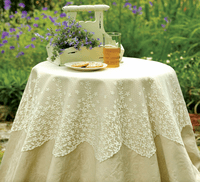 Blossom Ecru Lace Table Topper