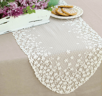 Blossom White Lace Runner - 12 x 54