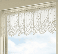 Blossom White Lace Valance - OVERSTOCK