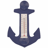 Blue Anchor Small Window Thermometer