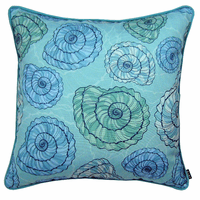 Blue and Green Shells Indoor/Outdoor Pillow