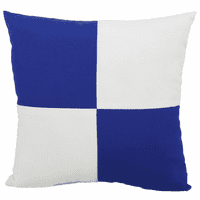 Blue and White Checkered Flag Indoor/Outdoor Pillow