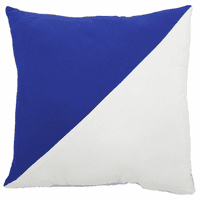 Blue and White Diagonal Flag Indoor/Outdoor Pillow