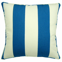 Blue and White Stripes Indoor/Outdoor Pillow