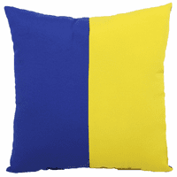 Blue and Yellow Flag Indoor/Outdoor Pillow