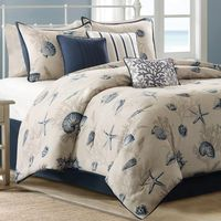 Blue Beach 7 Piece Comforter Set - Queen