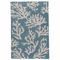 Blue Beach Coral Rug Collection