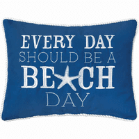 Blue Beach Day Pillow