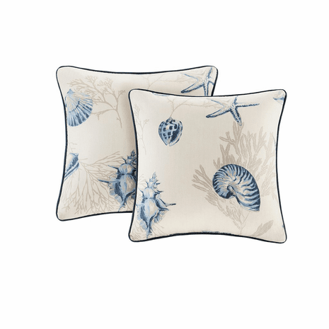 Blue Beach Pillows - Set of 2