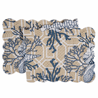 Blue Beach Shells Table Runner