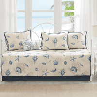 Blue Beach Six Piece Daybed Set