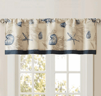 Blue Beach Valance
