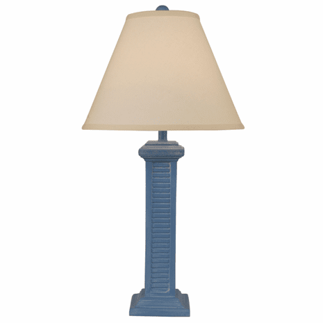 Blue China Tall Shutter Table Lamp