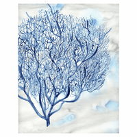Blue Coral Canvas Art