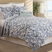 Blue Coral Reef Quilt Set - Full/Queen