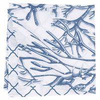 Blue Coral Reef Reversible Napkins - Set of 6