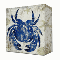 Blue Crab Aluminum Box Wall Art
