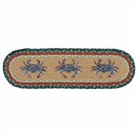 Blue Crab Braided Jute Stair Tread